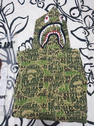 BAPE 25th Anniversary XXV Cities Camo Shark Hoodie Green