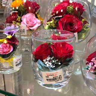 🌻 handmade red roses natural preserved flowers