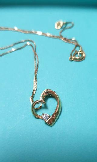 Citigems Rosella Rose Gold with Diamond Pendant & Necklace