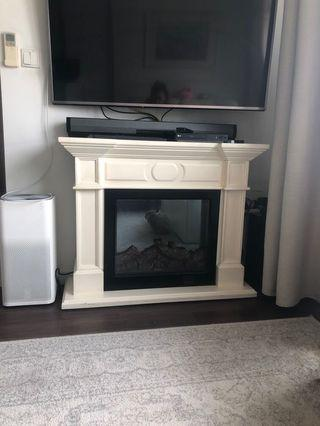 🚚 Fake Fireplace Solid Wood