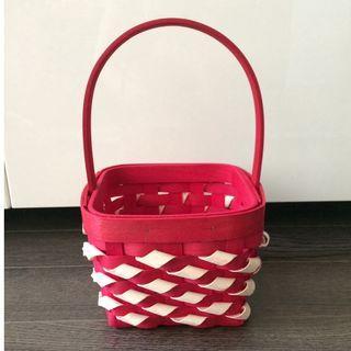 Red Basket for Wedding Petals