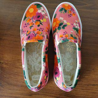 Keds X Rifle Paper Co Anchor Vintage Blossom Pink Sneakers