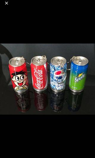 🛍Can drink keychain with retractable pen inside (Set)