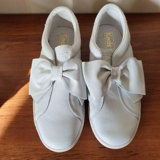 Keds Women's Ace Bow Leather Slip On Sneakers White