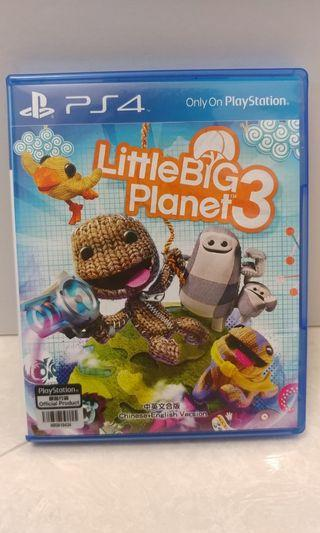 Play Station PS4 FIFA18 & WRC6 & Little Big Planet