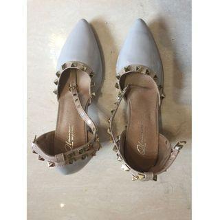 $80 全新 女裝鞋 Shoes 淺灰色 高跟-01 35碼
