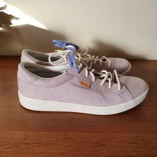 Keds Ace Leather Purple Snakeskin Women's Sneakers