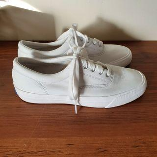 Keds Anchor Leather Women's Sneakers White Lace Up