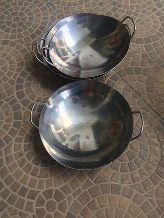 Aluminum mini wok / bowl