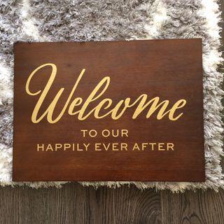 Wedding Entrance Decor Wood Sign