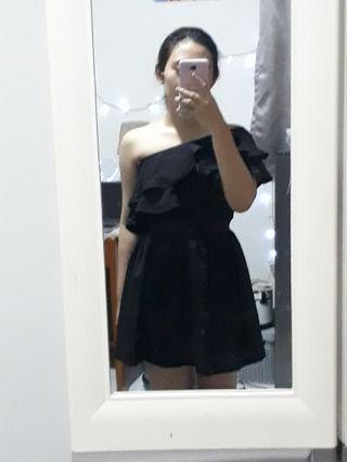 Shoulder Jamaican Black Dress