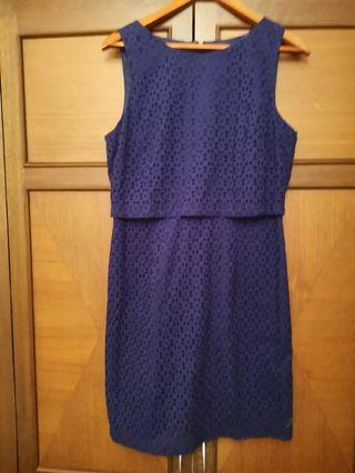 Ivanka trump blue eyelet dress