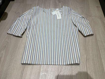 🚚 全新 日貨條紋襯衫衣 質感爆表 M內適合