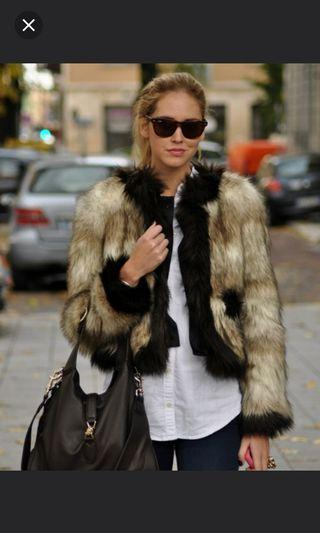 LANVIN for H&M Faux Fur Jacket