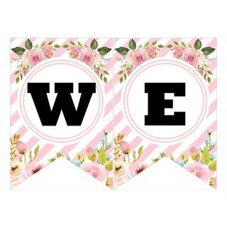🚚 Bunting Banner - Pink Floral