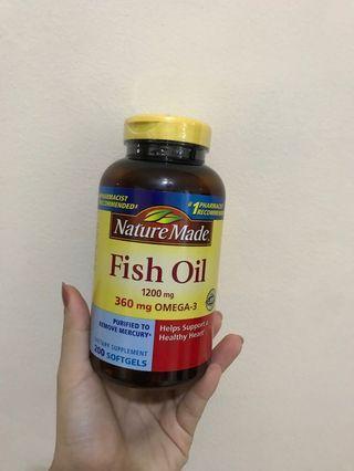 Nature Made Fish Oil 1200mg Omega-3 360mg