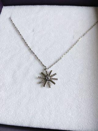 J.estina descendant of the sun snowflake pendant necklace