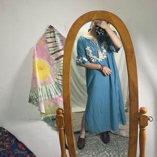 🚚 良家婦女| 手工 純棉 刺繡洋裝