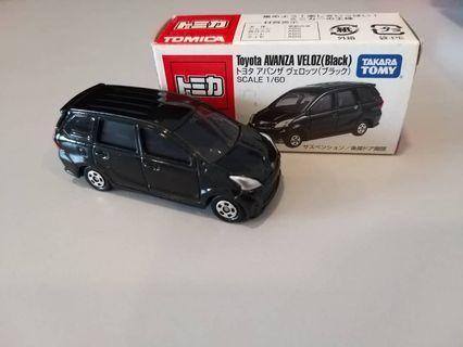 Takara Tomy Tomica Toyota Avanza Veloz Miniature Car (sack box) Scale 1/60