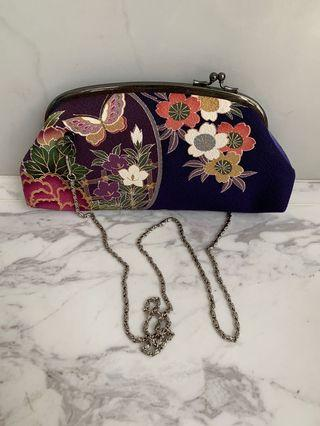 🚚 Japanese Kimono Fabric Clutch Bag #CarousellxCasetify