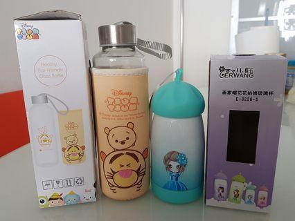 BN Disney Tsum Tsum & Girl Glass Bottle Tumbler
