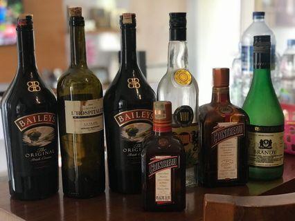 Botol Wine dijual murah apa adanya