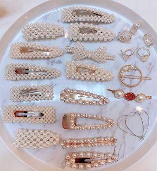 Pearl Hair Pins & Rings