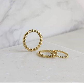 Stackable ball rings