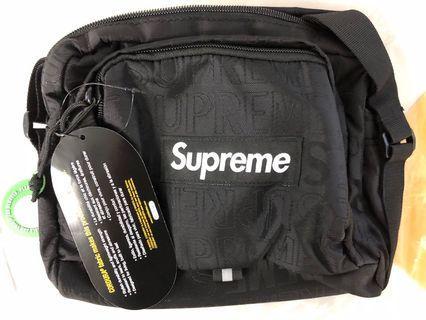 Supreme SS19 Shoulder Bag Black / Olive