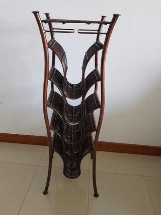 🚚 Copper rattan wine rack,  wine display