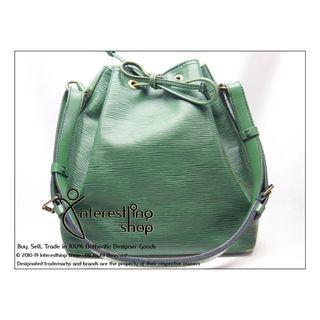 Starting Bid: $280 END 30/06 5 PM - # R0002. Authentic Pre-Owned Louis Vuitton EPI Green Petit Noe (NON-NEG)