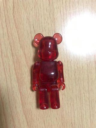 Bearbrick jellybean red colour 100%