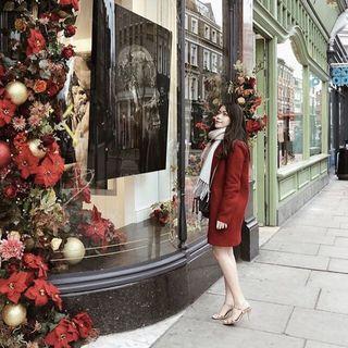 Red Zara Coat #Carouselland