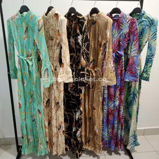 Chiffon Pleated Dress