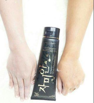 #maugopay Whitening lotion Black pome Syb with uv filet spf 50pa+++ glitter effect