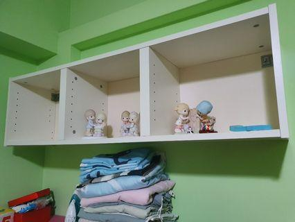 IKEA white wall display shelf