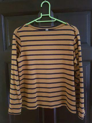 Striped Boat-Neck Long Sleeve Tee