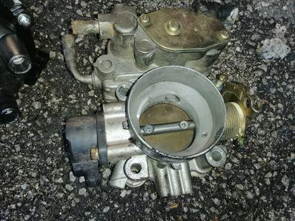 Throttle body satria 1.6   , compressor,  door trim satria ( can nego )
