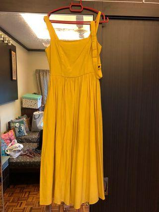 Doublewoot mustard summer dress