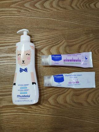 🚚 Mustela Body Lotion + Diaper Cream
