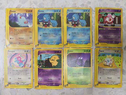 Pokemon Aquapolis common Cards
