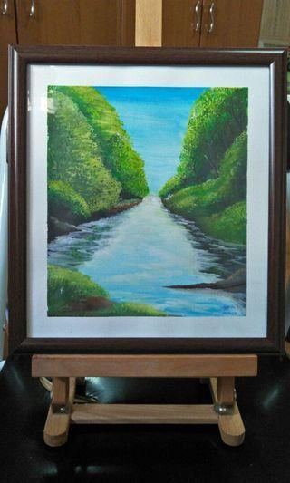 🚚 Landscape Acrylic Painting