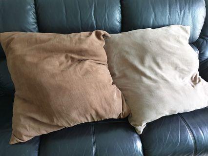 Two big cushion pillows