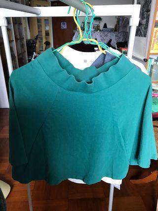 H&M綠色半截裙