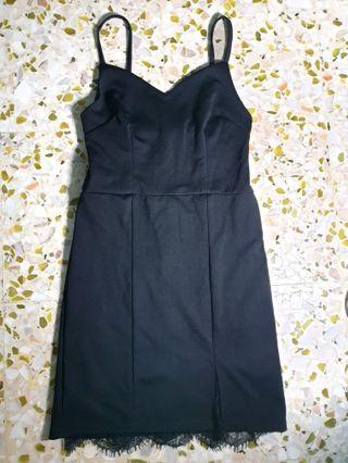 Little Black Dress with Lace Details
