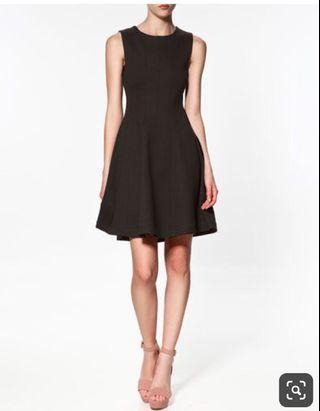 Zara Fit & Flare Little Black Dress