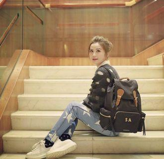 Burberry The Large Rucksack in Technical Nylon and Leather Backpack 背包