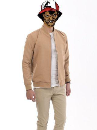 Luxe Bomber Jacket Brown male.id