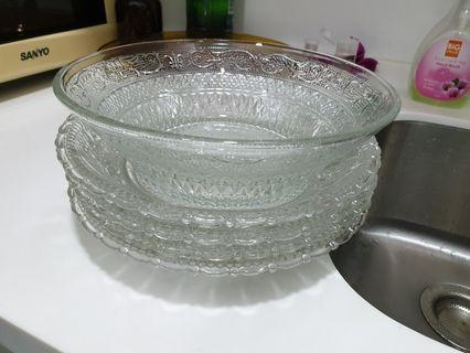 Crystal dish set