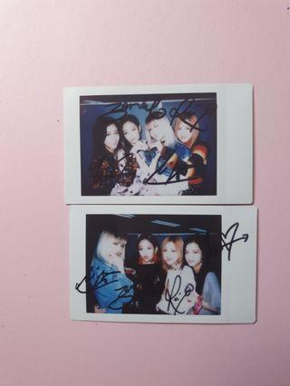 Signed Blackpink Polaroid Square Two